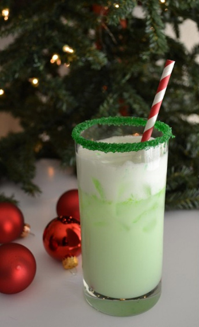 Grinch Spritzer- yummy Christmas Drinks