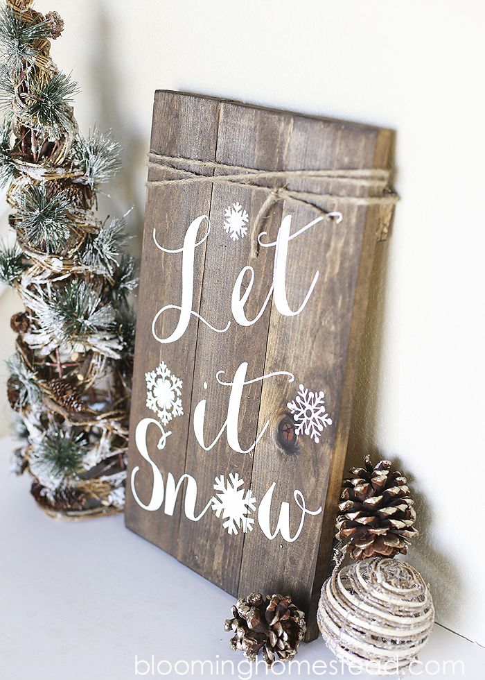 rustic christmas signs we love b lovely events. Black Bedroom Furniture Sets. Home Design Ideas