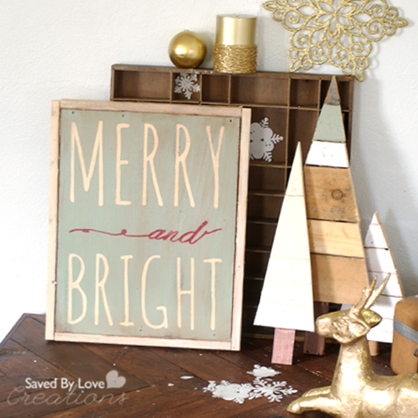 Love this Merry & Bright Christmas sign!