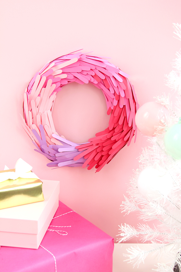 Lovely Color block christmas Wreath