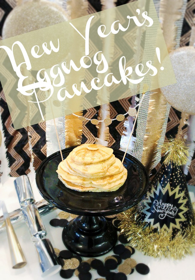 New Year's Eggnog Pancakes! - B. Lovely Events
