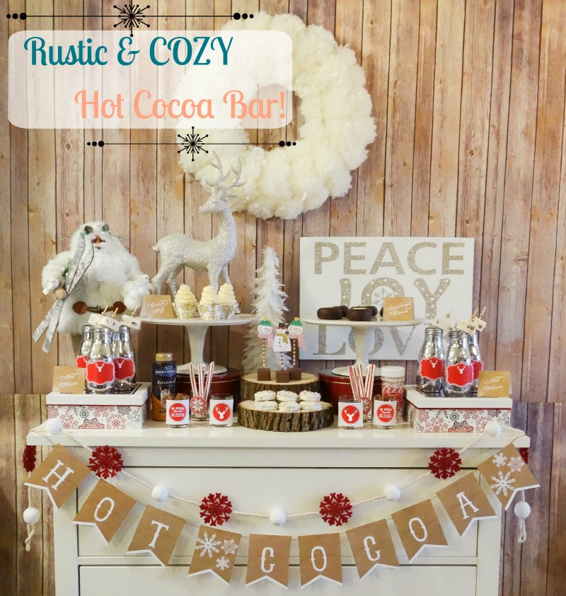 Rustic And Cozy Hot Cocoa Bar - B. Lovely Events