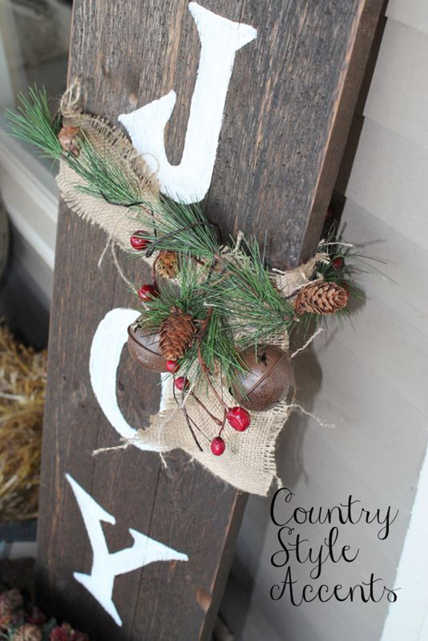 Rustic Joy Christmas Sign