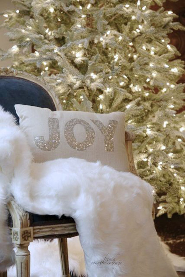 White and silver christmas decorations!