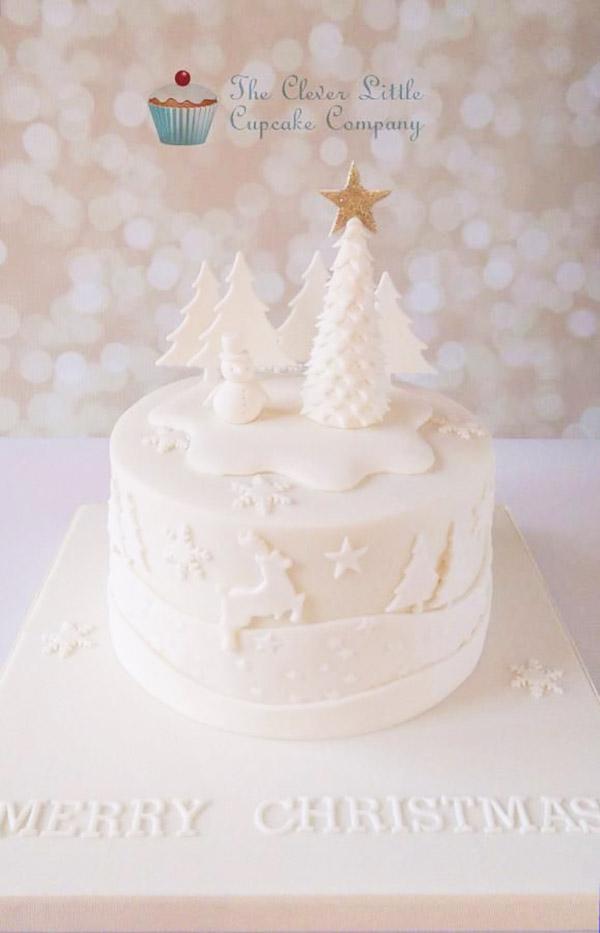 Wonderful white Christmas Cake