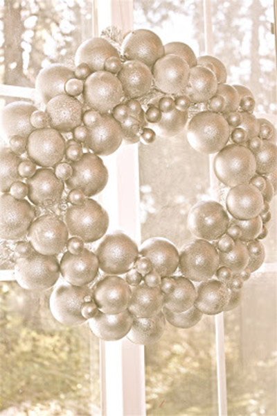 beautiful white and silver ornament chirstmas wreath