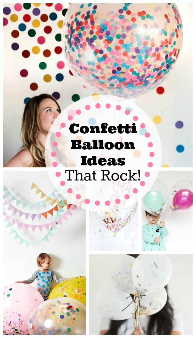 Confetti Balloon Ideas That Rock- B. Lovely Events