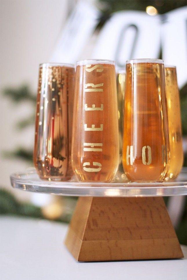 DIY Gold Letter Drink Glasses-Fun!