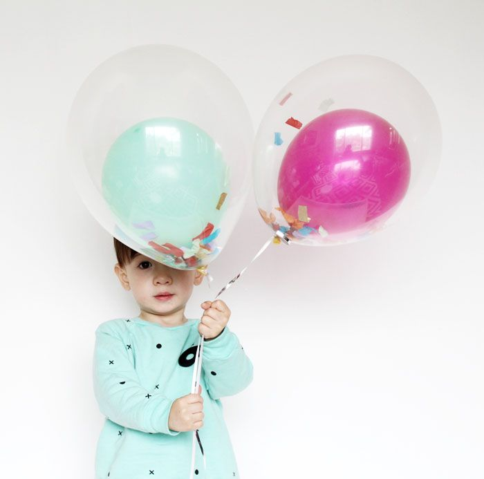 Fun Double Confetti Balloons!