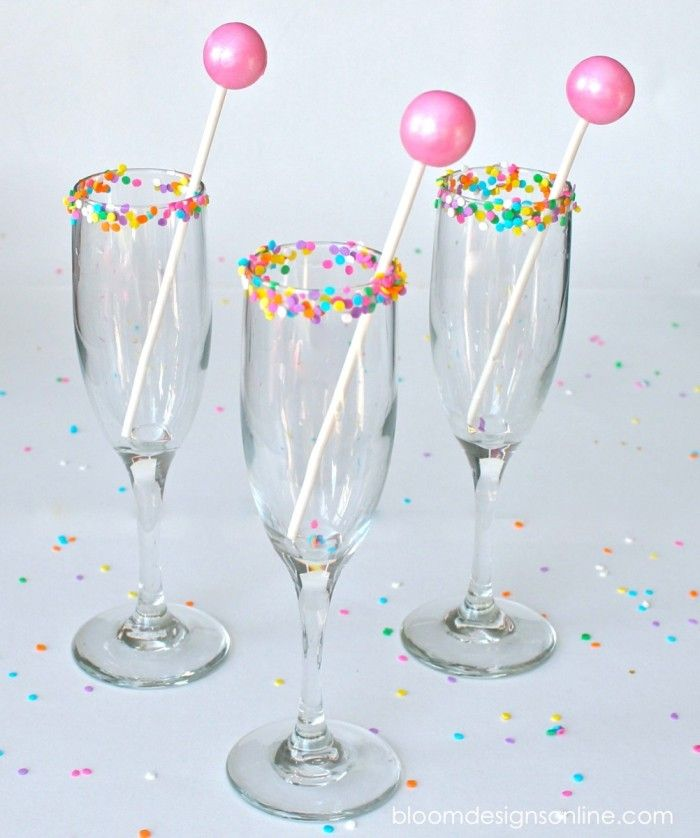 Fun Sprinkle Rim Glasses