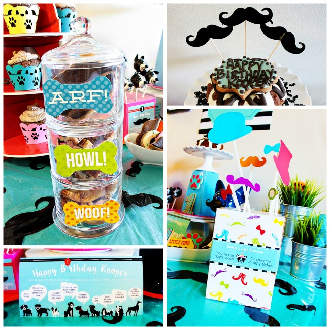 Pupstachio Mustache Dog Birthday Party - B. Lovely Events