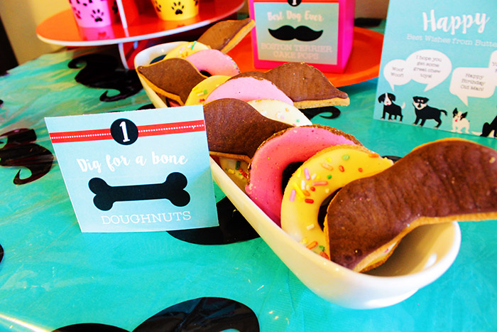 Pupstachio Mustache Dog Birthday Treat Cookies - B. Lovely Events