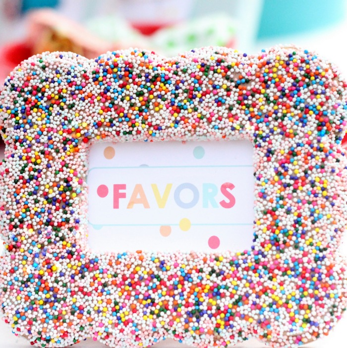 Sprinkle Covered Frame- Perfect decor for a sprinkle party! - Copy