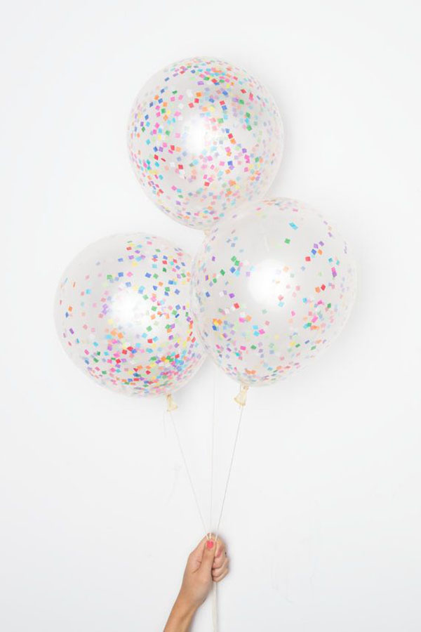 Square Confetti Balloons-Looks like sprinkles!