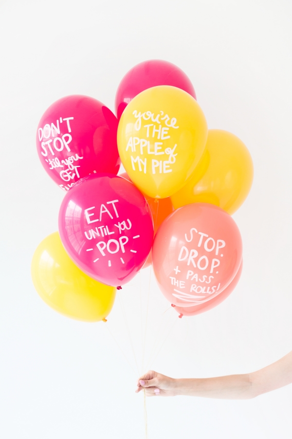Trend alert- Balloons with words- Cute Thanksgiving Balloons
