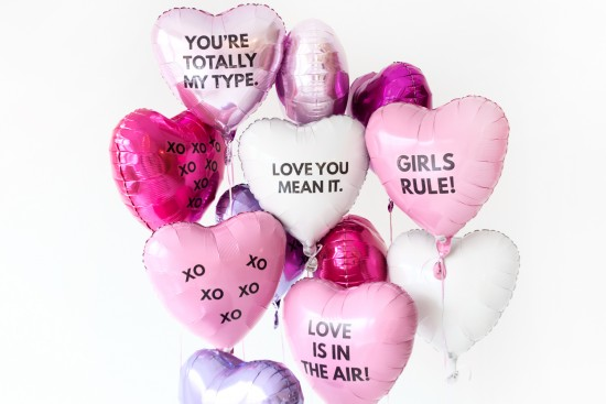 Valentines Day Balloons with Words