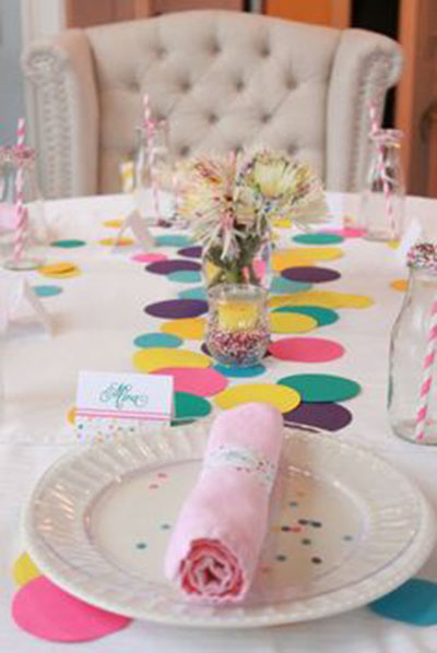 We Love these Sprinkle Party Decrations!