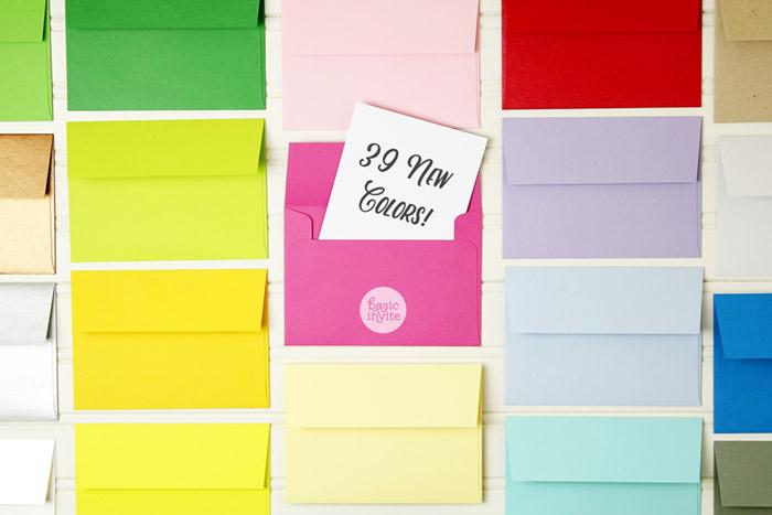 Basic Invite Envelope colors