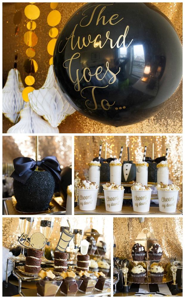 Black And Gold Tuxedo Oscar Party-B. Lovely Events