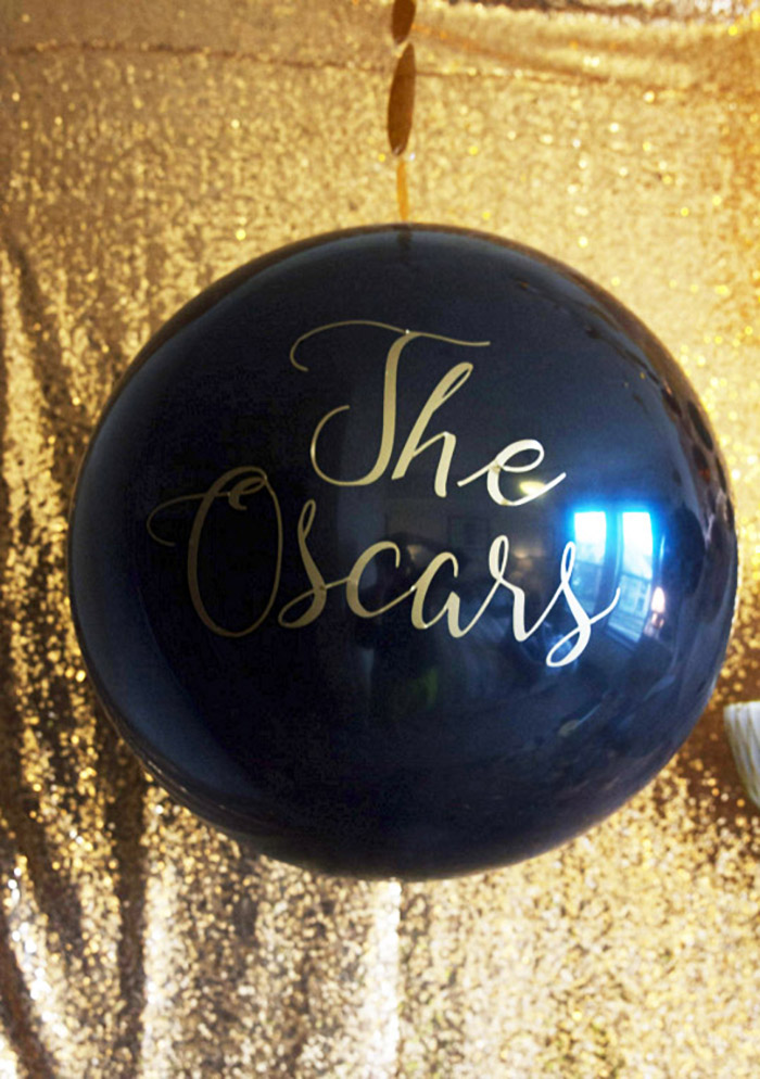 Black and gold Oscar Party- Oscar Party Balloon -See More Oscar Party Ideas On B. Lovely Events
