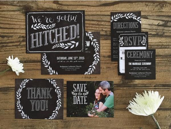 Chalkboard Wedding Invitaions Basic Invite!