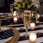 Black And White Oscar Party Tablescape