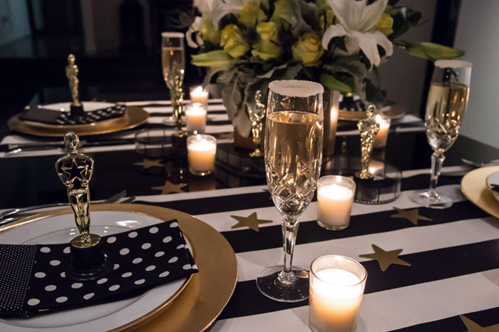 Oscar Party Tablescape