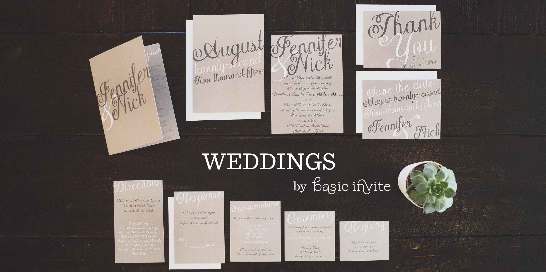 Wedding Invitaitons From basic Invite