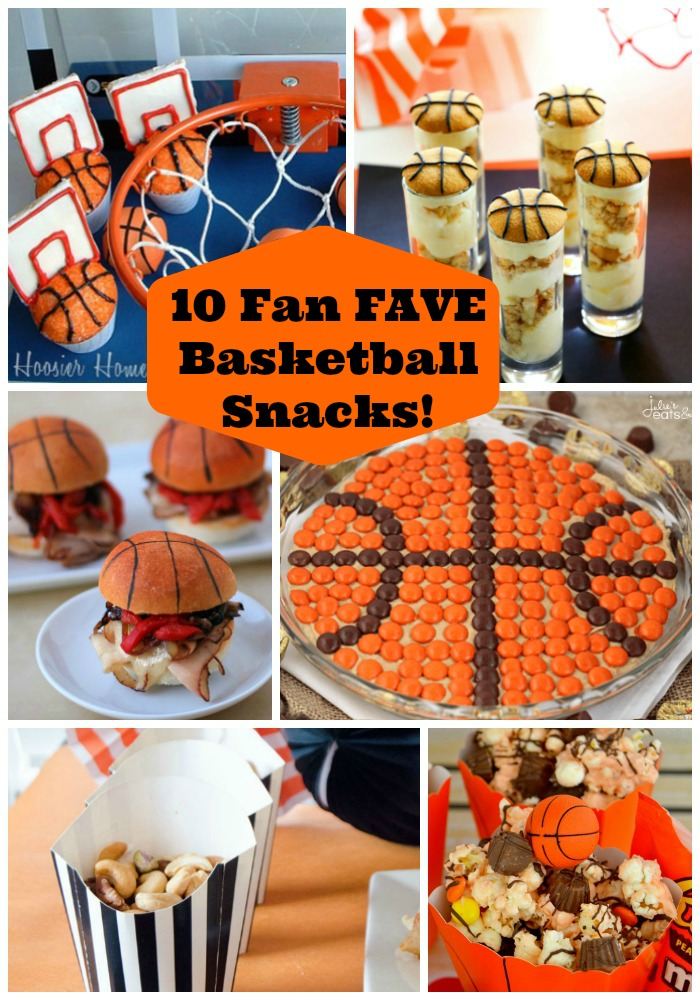 10 Fan Fave Basketball Snacks! -See them all at B. Lovely Events!