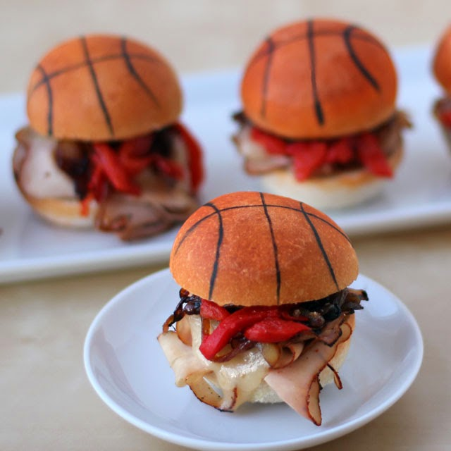 Basketball Party Sliders - See More March Madness Basketball Snacks On B. Lovely Events
