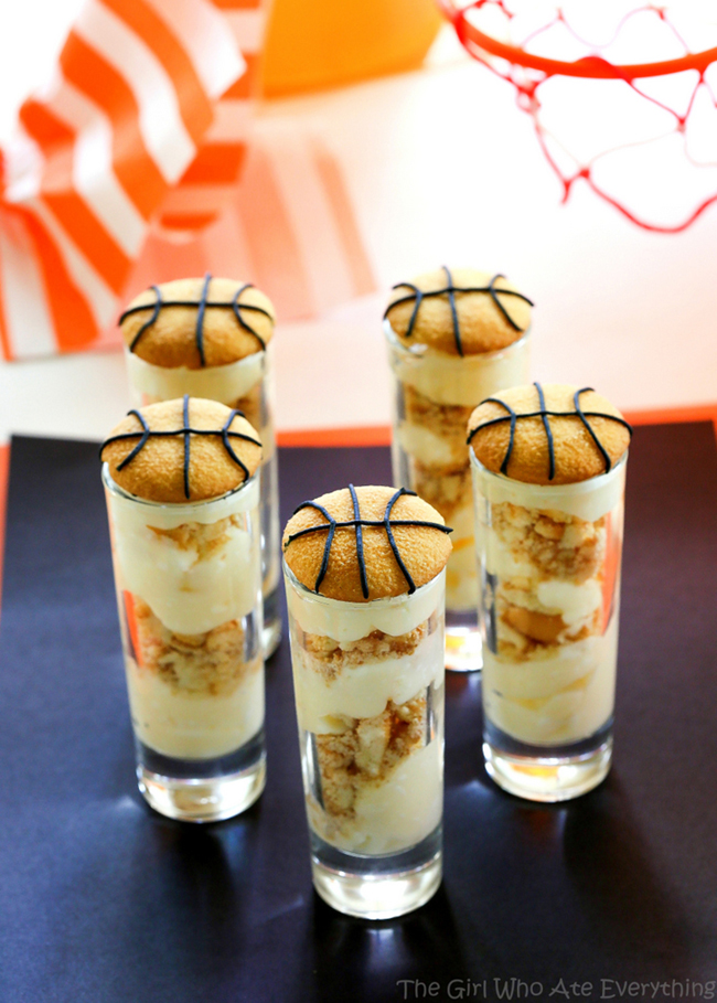 Basketball party March madness eats- See More March Madness Basketball Snacks On B. Lovely Events