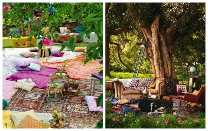Bohemian Outdoor Seating For Summer- Love! - B. Lovely Events