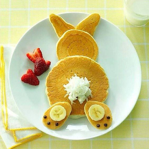 Bunny Butt Pancakes! Yum & Cute! - See More Easter Bunny Butt Ideas On B Lovely Events