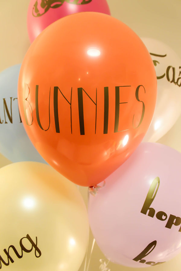 Cute DIY Tyopography Easter Balloons! -See How To Make These On B. Lovely Events