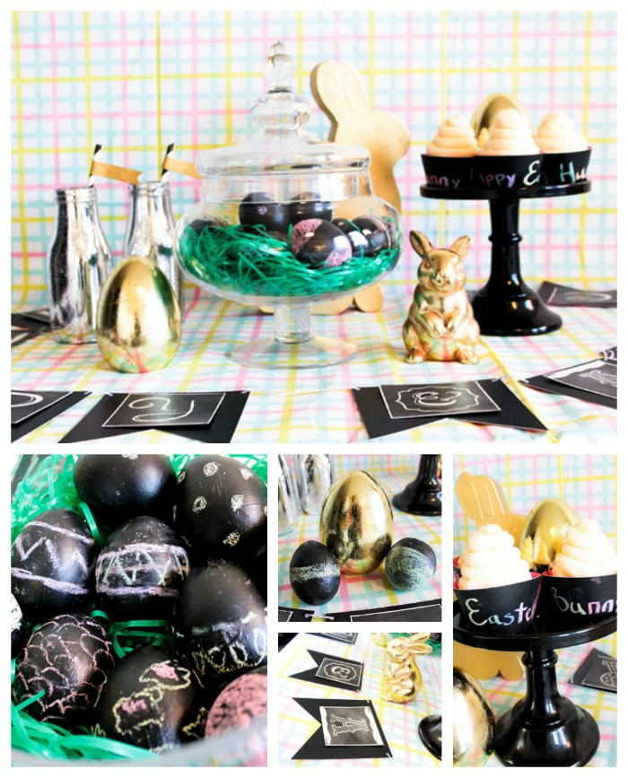 DIY Chalkboard Easter Eggs & Easter Party! -B. Lovely Events