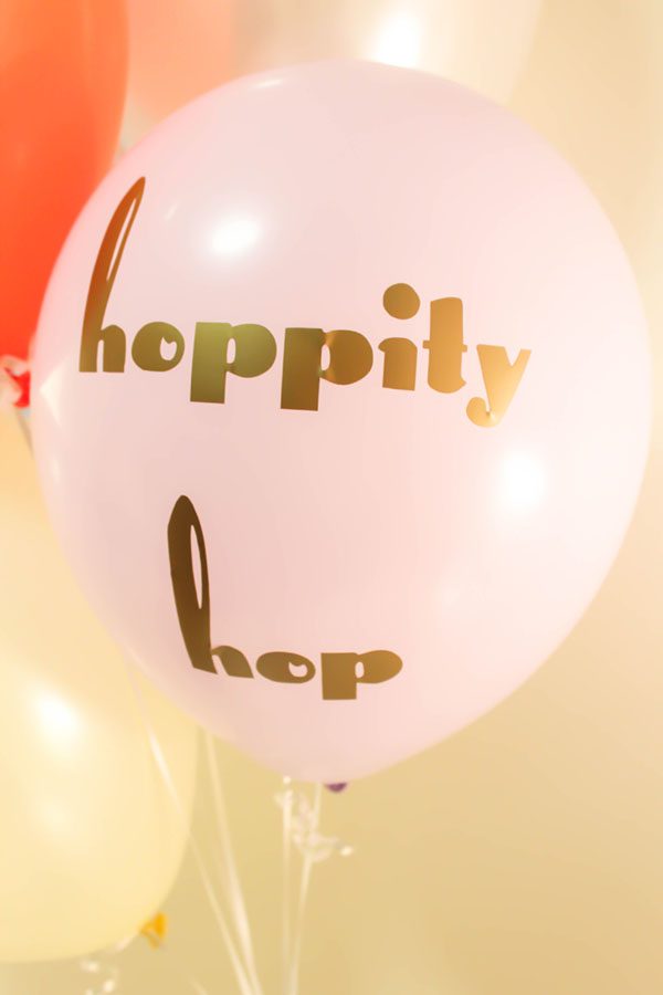 DIY Tyopography Balloons- Hoppity Hop! -See How To Make Them On B. Lovely Events