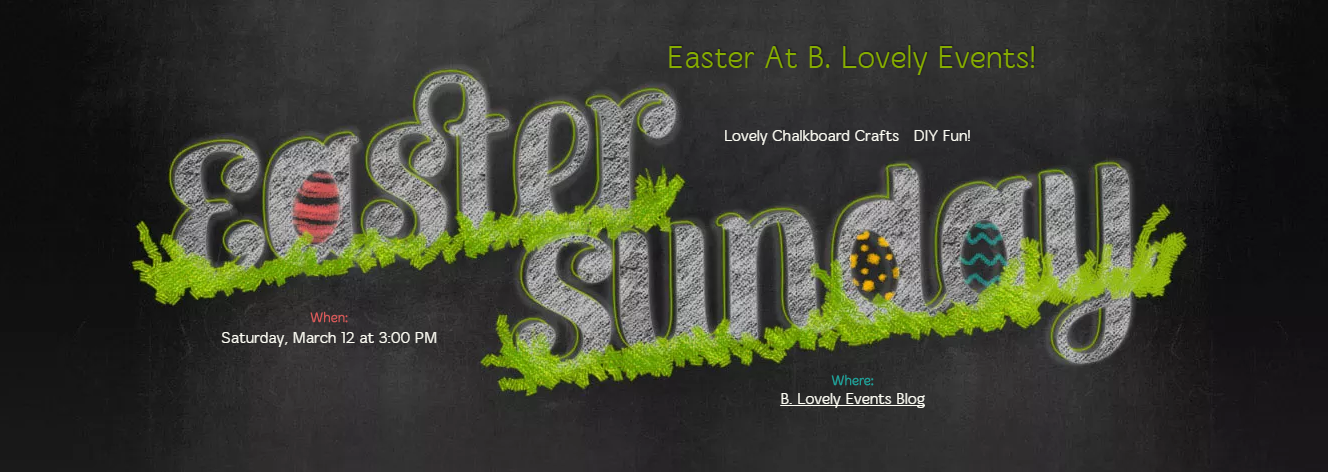 Evite Chalkboard Easter Invite!