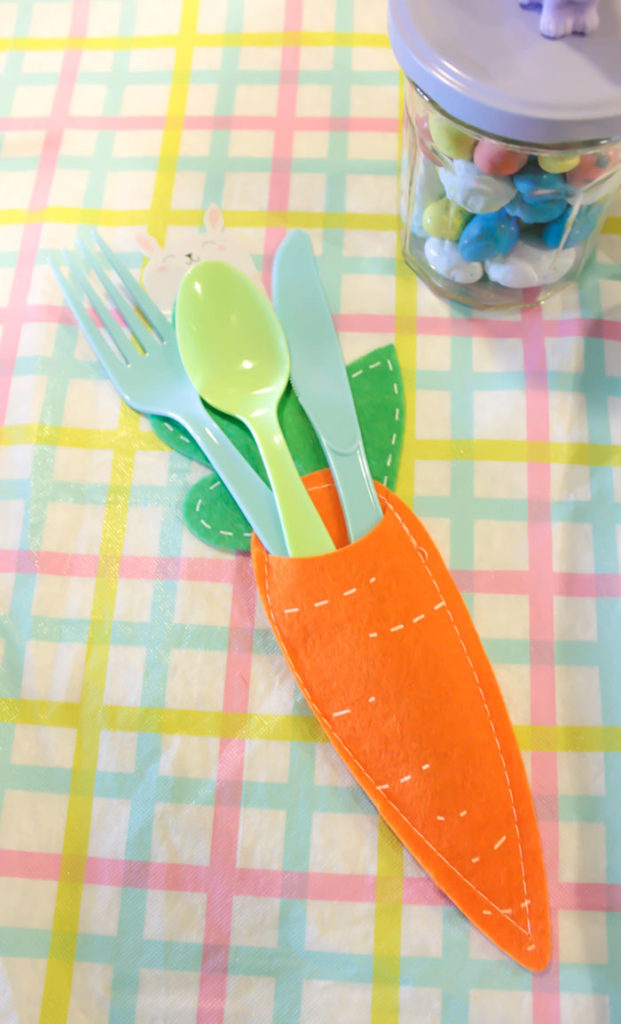Fun Carrot Silverware Holder For Easter- B. Lovely Events