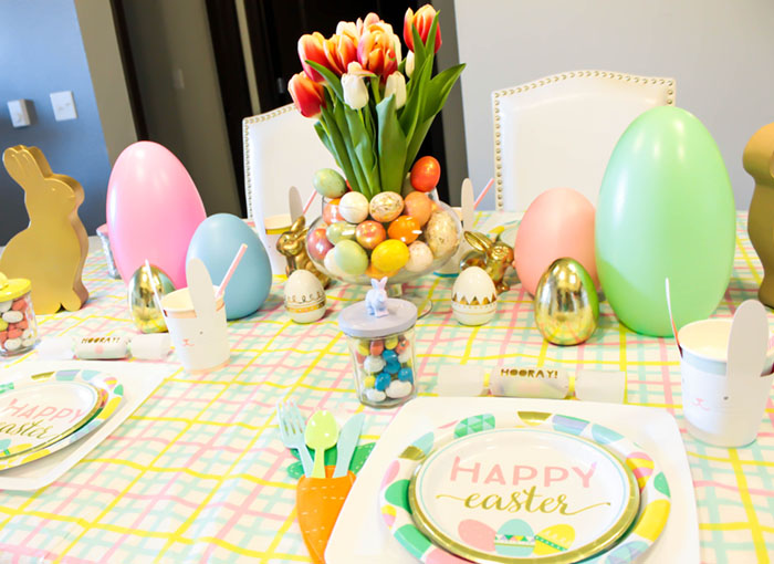 Fun Kids Easter Bunny Table- See more at B. Lovely Events