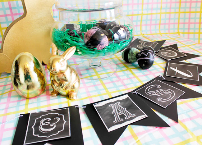 Lovely Chalkboard Easter Party --Learn The How To On B. Lovely Events