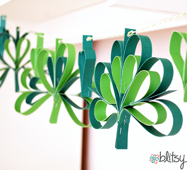 Loving this fresh and colorful Shamrock Garland! -See More Shamrock Banners & Garlands On The Blog! B. Lovely Events