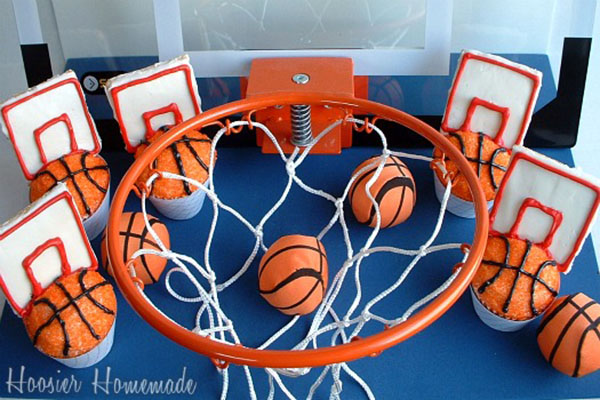 March-Madness-Basketball-Cupcakes - See More March Madness Basketball Snacks On B. Lovely Events