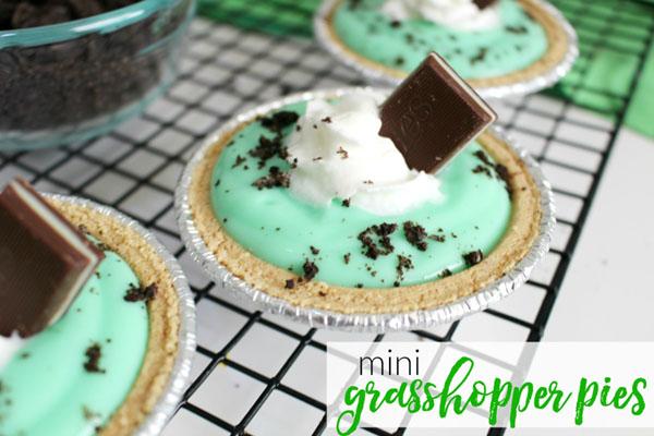 Mini Grasshopper Pies For St. Patricks Day
