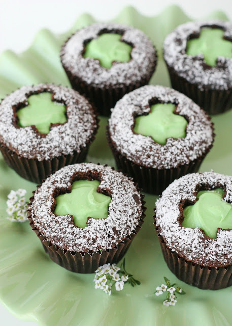 St Patricks Day Grasshopper Cupcakes