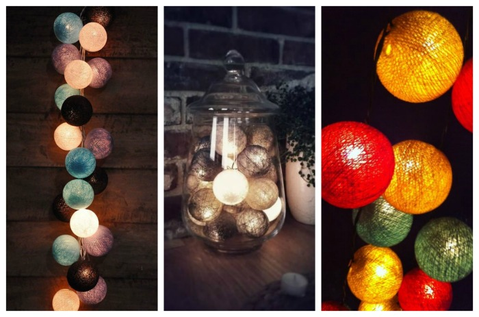 Yarn Ball Lit Decorations- B. Lovely Events