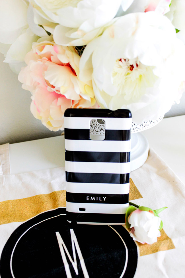 Black And White Striped Phone Case- Fun Gift For Mothers Day