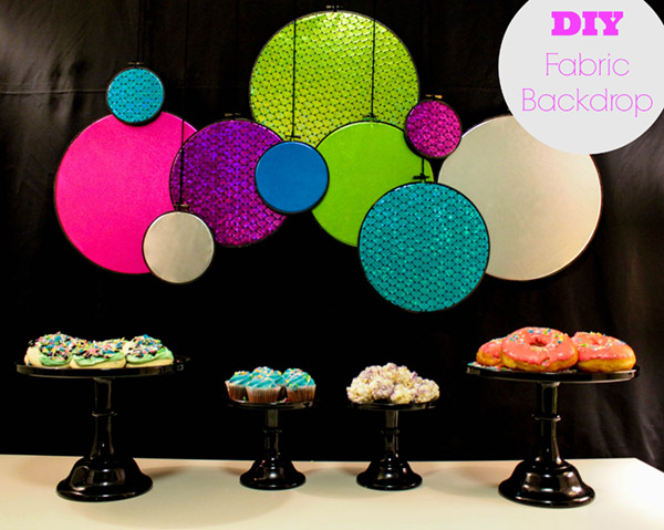 DIY Fabric Backdrop. -Learn How On B. Lovely Events!
