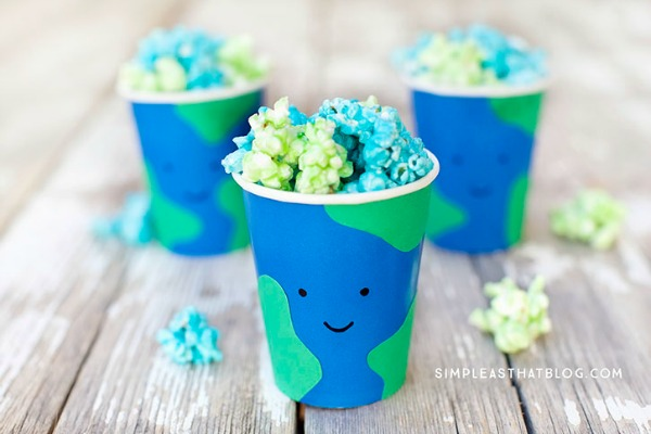 Earth Day Popcorn-See More Earth Day Desserts Ideas At B. Lovely Events