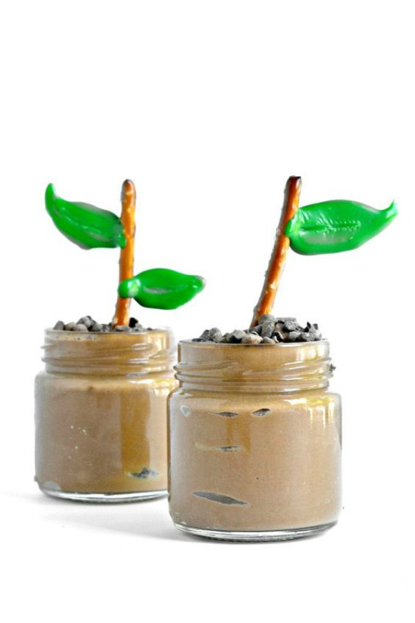 Earth Day Pudding Cups- So cool! -See More Earth Day Desserts Ideas At B. Lovely Events