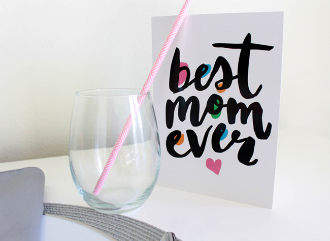 Fun Modern Mother's Day Card